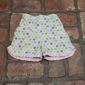 Other - Adorable Polka Dot Shorts with ruffle Girls Size 4